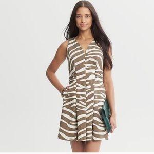 NWT! BANANA REPUBLIC Issa London Zebra Print Dress